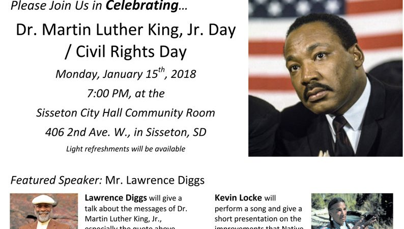 Jan 15 MLK Day Celebration in Sisseton, SD